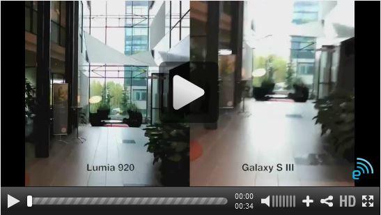 lumia 920 vs Galaxy III video