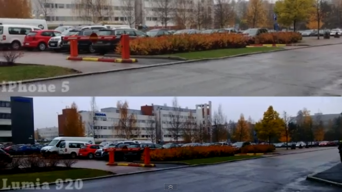 video lumia 920 vs iPhone 5