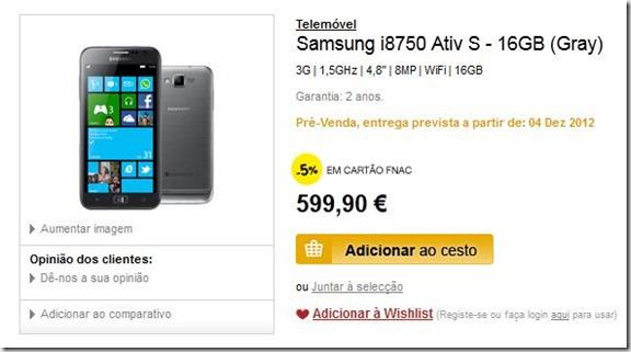 Samsung-Ativ-S fnac portugal