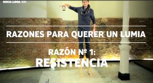 Video resistencia del Lumia 820