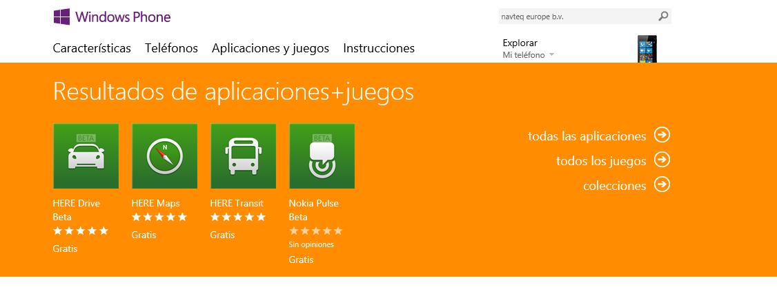 HERE Apps en la store