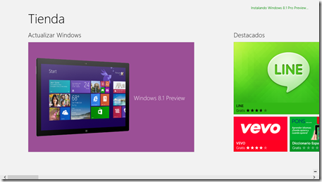 windows 8.1 preview en la store