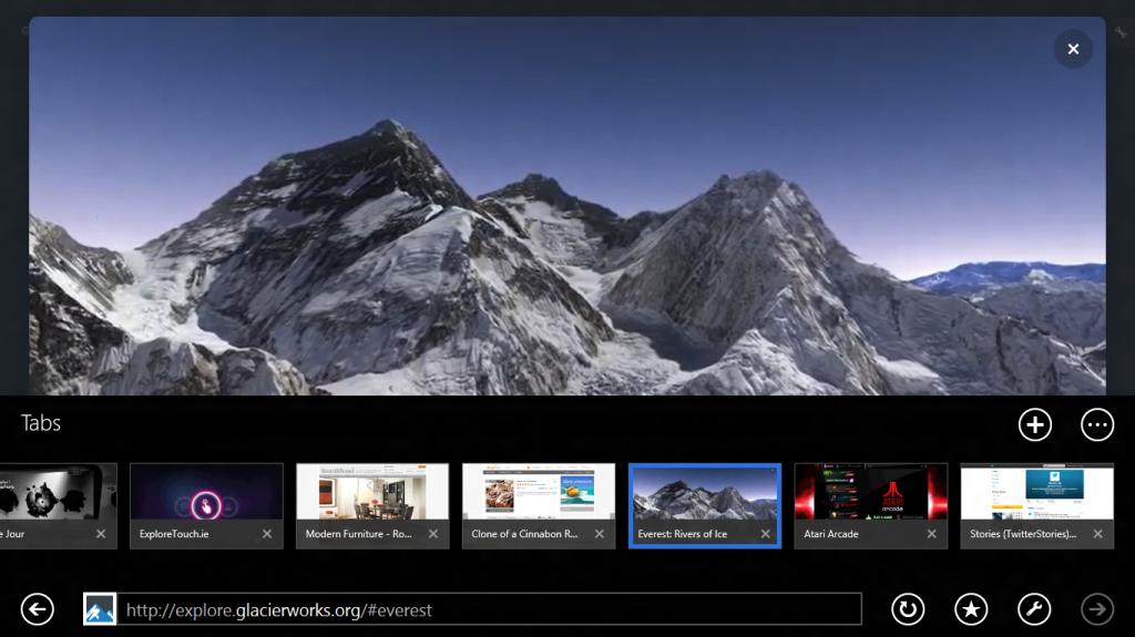 IE 11 versión Móvil En Windows 8.