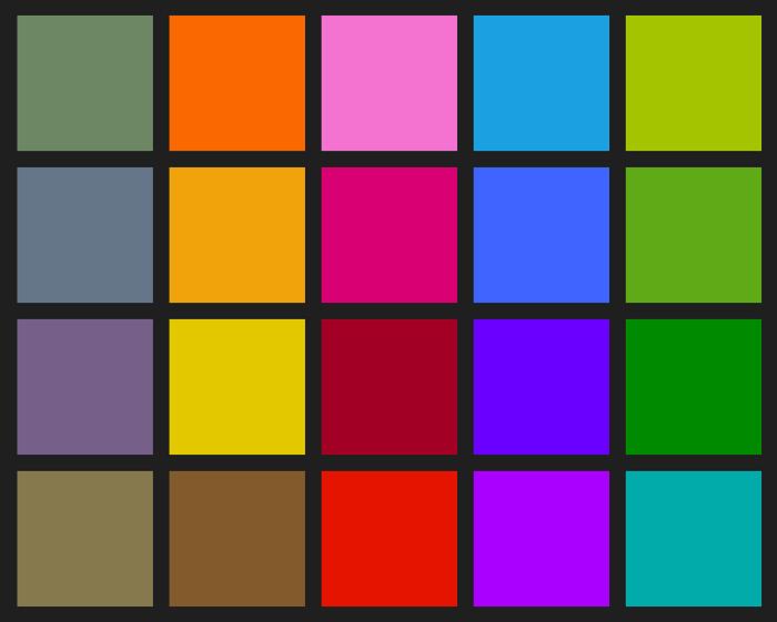 Colores de enfasis