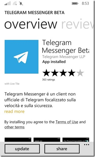 TELEGRAM MESSENGER BETA_01