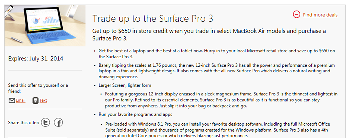 trade Up surfece PRO 3