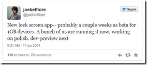 twit app pantalla de bloqueo
