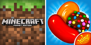 minecraft & candy crush